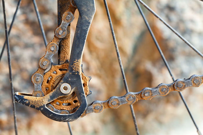 Bike Parts MTB Mountain Bike Bicycle Bike Bike Chain Bike Part Bycicle Parts Chain Close-up Day Detail Focus On Foreground Gear Metal Mud No People Outdoors Rusty Trail