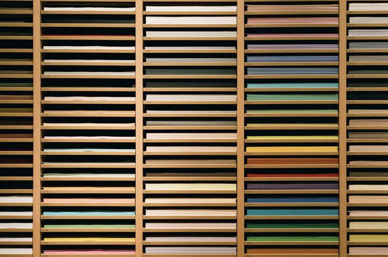 Full Frame Shot Of Colorful Window