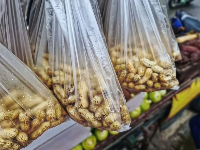 Close-up of food at market stall
