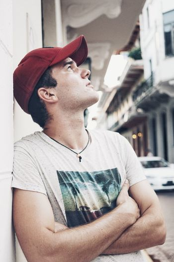 Hat Red Cap Wonderful Men Menstyle Mensfashion Menswear Cap Swinginginaplumtree Real People One Person Cap Young Adult Casual Clothing Outdoors Day Young Men Lifestyles Vacations Portrait One Man Only Street
