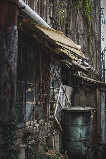 Building Exterior Built Structure Architecture Abandoned Day Building No People Wall - Building Feature Bad Condition Outdoors Obsolete Deterioration Tree Plant Metal Decline Nature Old Run-down Damaged