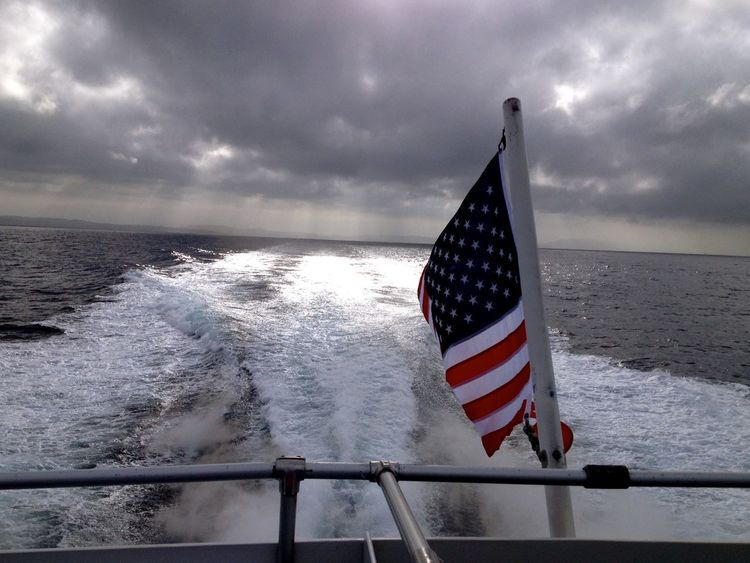 Going The Distance heading towards a new Destination !!! CatalinaIsland !!! Travelling Hanging Out Exploring New Ground Amazing View American Flag California What I Value