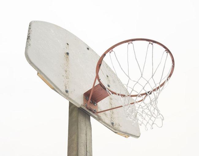 Basketball Basketball Hoop Abandoned Basketball - Sport Basketball Net  Broken Damaged Deterioration Empty Minimalism Net - Sports Equipment No People Old Sport Sports Equipment White White Background