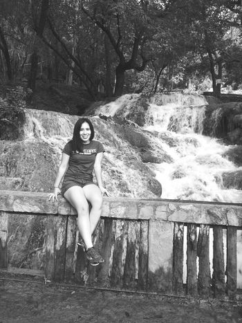 Water Enjoyment Looking At Camera Hello World One Person Front View Laughing Enjoying Life Weekend Activities Beauty In Nature Green Color Black And White Photography Whatever You Do Dont Forget To Smile. Leisure Activity