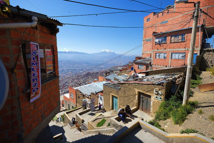 Urban La Paz La Paz Bolivia High Angle View City Daily Life Experience Exploring Streetphotography Hill Mountain House Sky Architecture Building Exterior Built Structure Mountain Range Snow Covered Residential Structure Urban Scene