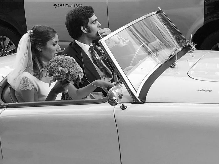 Just Married Streetphoto_bw Weding Iphoneonly Iphonephotography IPhoneography BW_photography Bw_lover Bw_collection Black & White Blackandwhite Blackandwhite Justmarried Car Motor Vehicle Women Mode Of Transportation Land Vehicle Two People Real People Transportation