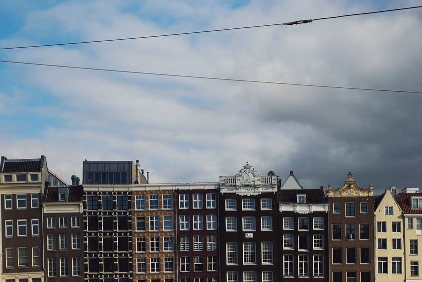 Architecture Building Exterior Low Angle View Built Structure Residential Building Sky No People Day Cloud - Sky Outdoors Apartment City Cityscape Amsterdam Thenetherlands