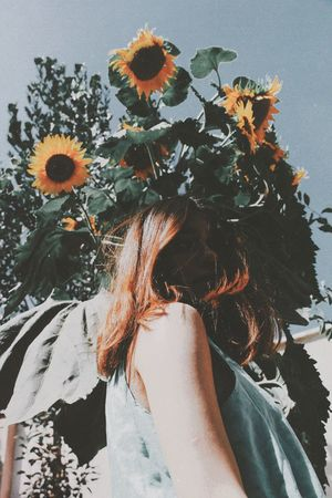Follow the sun The Fashion Photographer - 2018 EyeEm Awards Plant One Person Nature Flower Growth Flowering Plant Day Tree Hair Flower Head
