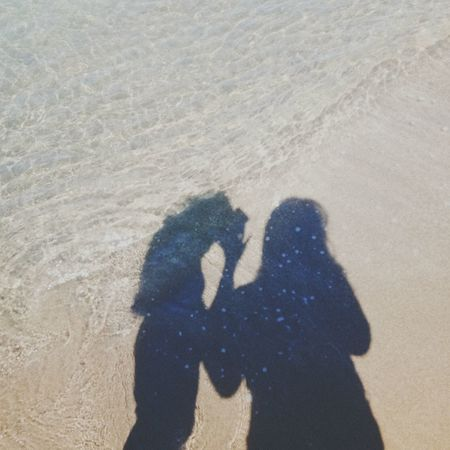 Photography Themes Men Togetherness Beach Women Shadow Photographing Sand Couple - Relationship Bonding