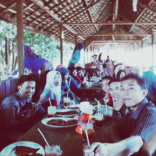 Selfie before launch in Kampung Lauk
