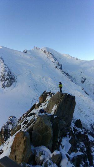 Le Mont Blanc AlpesFrancaises Moutain Top Moutain View Sky Alpinism Alpinist Sunrise Montblanctop Snow EyeEm Best Shots Aiguilledumidi Go Higher