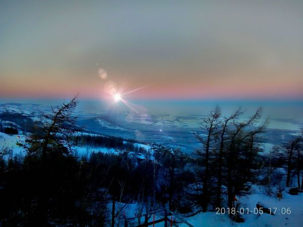 Nature winter evening Mountain Beauty In Nature Linarasphoto Sunset Travel Destinations Landscape Winter
