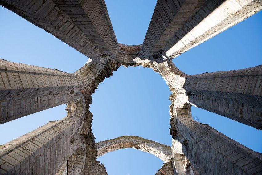 Skyward ruins. Ruins Churchruins Sky Monument Visby Sweden Bluesky Nikond600 Tamron2470 Symmetry