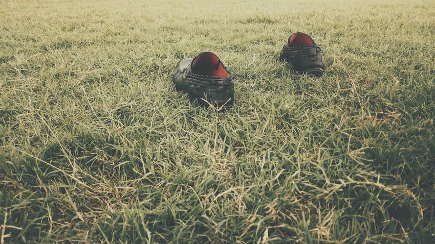 The Color Of Business Day Nature Outdoors Green Color Scenics Shoes Red Black Simplicity Simple Beauty