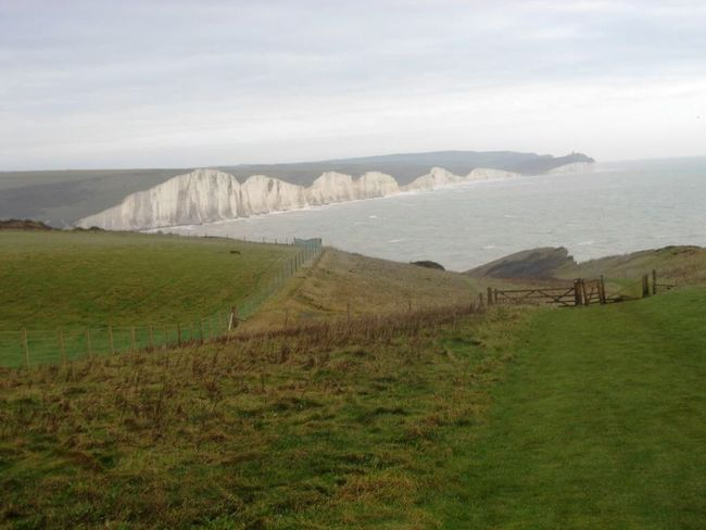 Popular British Countryside Cliff Hiking Seven Sisters Cliffs Seven Sisters White Cliffs Seven Sisters Sussex Sussex Coast