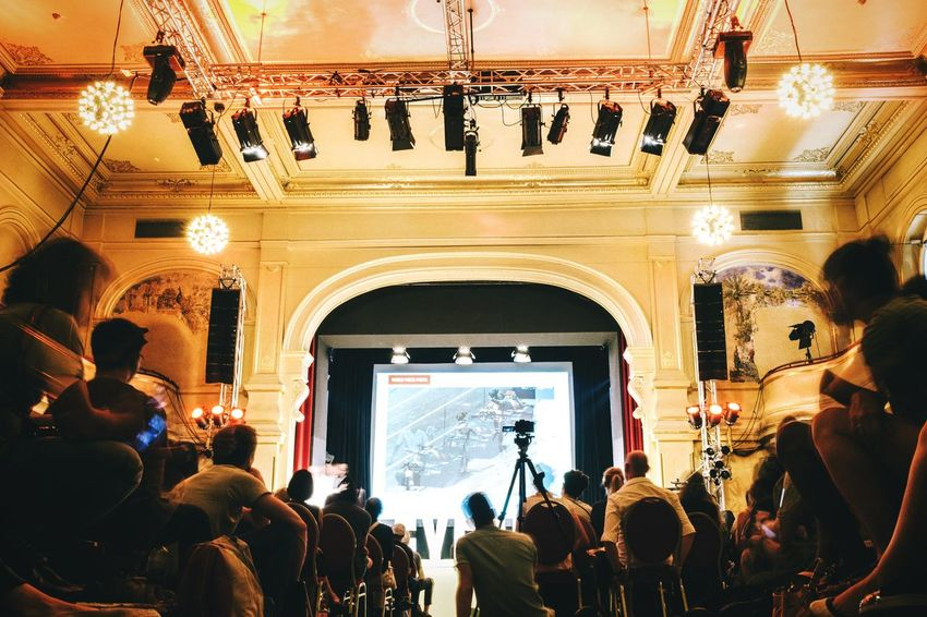 EyeEm Festival 2016 was so fun! :D Indoors  Eyeemfestival16 Built Structure Stage - Performance Space Playing Eyeemphoto Low Angle View Long Exposure Festival Stage Theater Auditorium Audience Arts Culture And Entertainment Lifestyles Group Of People Keynote Room Festival Season Event In Front Of Crowd Hall Gathering Happening