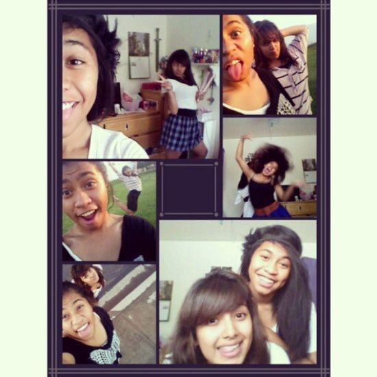 Last Friday with this freak :) @friditababyy Safe haven, takis, chocolate, pictures, videos, black ops, coke and mentos, and sprinklers :D great day :) Bestfriends Lastfriday Movies GirlsNight collage smile love blackops