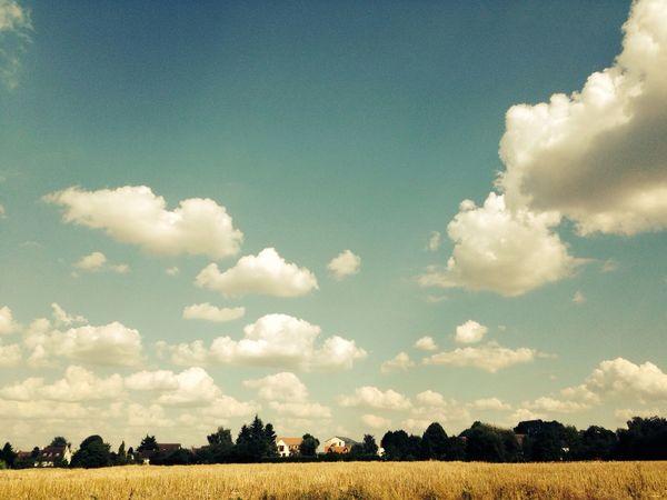 ´Le ciel est un moyen de liberté incomparable a celui de rêver.´ Sky Paysage Cloud Field