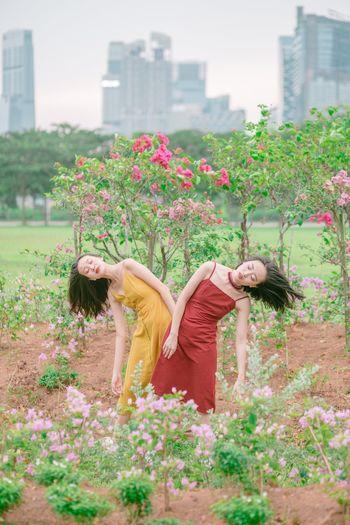 大风吹 Real People Women Of EyeEm Fine Art Portrait Plant Real People Architecture Flowering Plant Flower Building Exterior Nature People Outdoors Women International Women's Day 2019