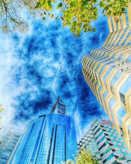 Perth City Architecture Blue Trees Skyscraper Buildings Cityscape Bhpbilliton Riotinto Sky Australia WesternAustralia