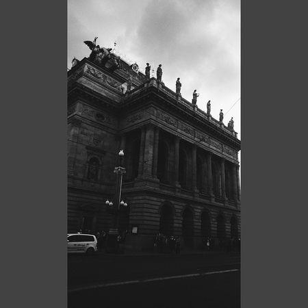 Narodnidivadlo Nationaltheatre Divadlo Building theatre praha prague vscocam vscocz vsco vscocz ech bw blackwhite