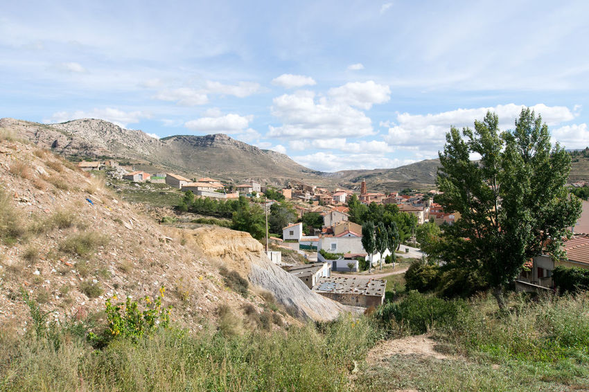 Utrillas Terual Moseo minerio y alrededores. Octubre 2018 2018 October Teruel Utrillas Architecture Beauty In Nature Building Building Exterior Built Structure Cloud - Sky Day Eddl Environment Grass Growth Land Landscape Mountain Nature No People Outdoors Plant Scenics - Nature Sky TOWNSCAPE Tree