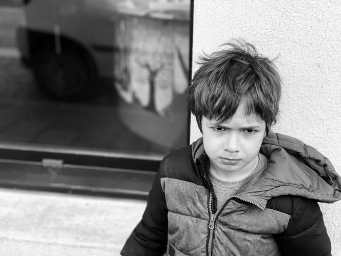Portrait of boy looking at camera