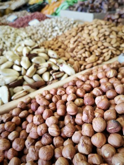 Close-up of roasted for sale at market stall