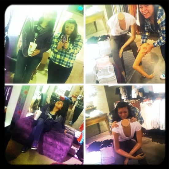 At the mall with BestFriend goofing around xD