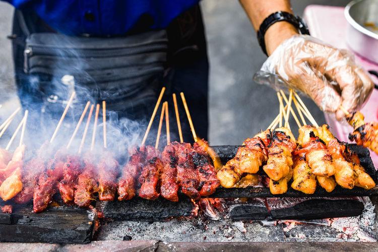 Malaysia famous street cuisine, the satay.