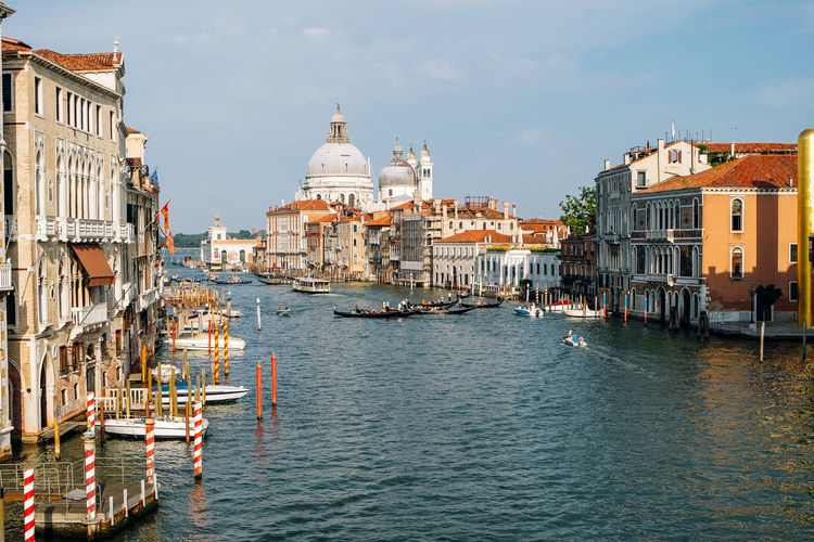 landscape of venice Italy Venice Venice, Italy Italy Travel Travel Destinations Building Exterior Nautical Vessel Built Structure Architecture Water Transportation Mode Of Transportation Sky Canal Building Waterfront Tourism Nature Religion Place Of Worship City Gondola - Traditional Boat Outdoors Passenger Craft Wooden Post