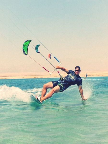 Awsome Kitesurfing ! thx to my friend peter! you so Looking Good ! :-)