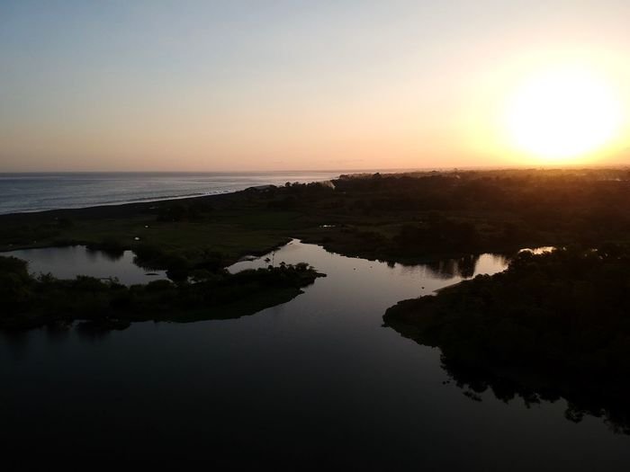 Klungkung Sunset. Drone Photography Dji Spark Bali Drone Photography Nature Lover Nature Photography Nature Klungkung INDONESIA Bali Sunset Beautiful Sunset Amazing Sunset Power In Nature Beauty In Nature Sunset Over Sea Sunset Reflection Water Nature Scenics Tranquil Scene Tranquility Sky Silhouette No People Sun Waterfront Outdoors Sea Clear Sky Landscape EyeEm Ready   EyeEmNewHere