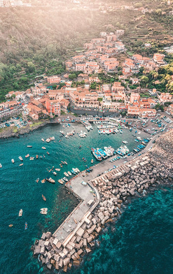 Old fishing village High Angle View Architecture Aerial View Water Building Exterior City Built Structure Nature Travel Destinations Sea Travel Day Building Transportation Tourism No People Cityscape Outdoors Sicily Close-up Acireale Sunset Panormic Airview Photogrammetry