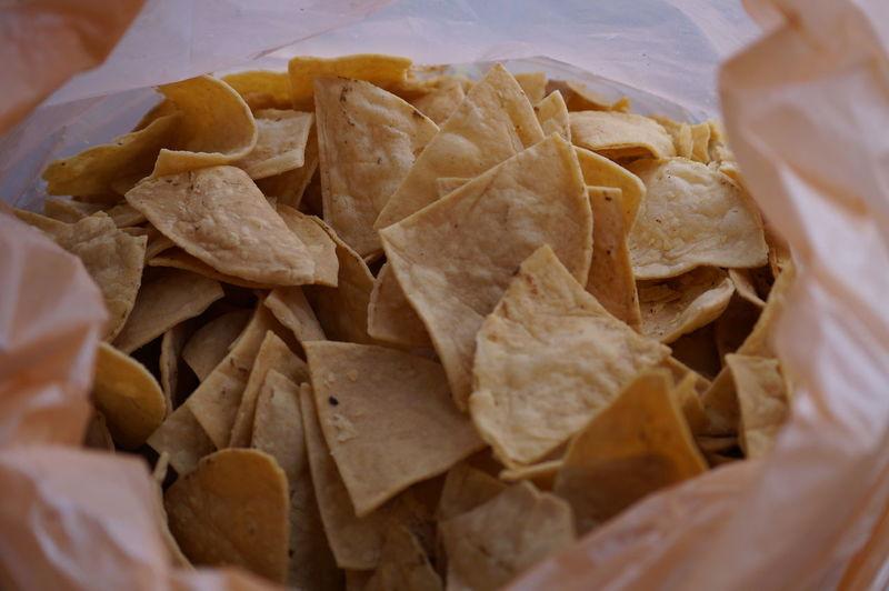 Close-up of tortilla chips
