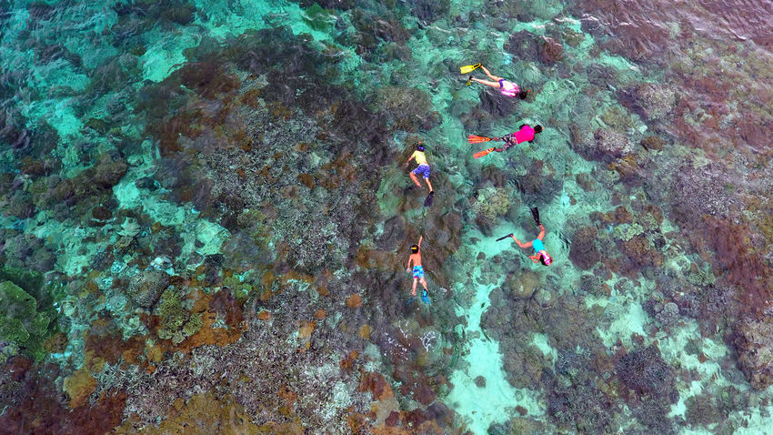 Adult Adults Only Aerial Shot Aerial View Blue Colorful Day Dronephotography High Angle View Outdoors People Real People Snorkeling Swimming Togetherness A Bird's Eye View Flying High Water Islands Done That.