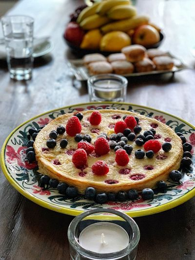 Sunday afternoon Fruit Food Food And Drink Sweet Freshness Healthy Eating Sweet Food Dessert Berry Fruit Plate Cake Table Raspberry Baked Indoors  Ready-to-eat No People