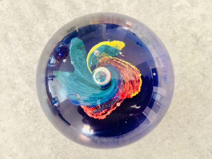 Multi Colored High Angle View Directly Above Indoors  Circle Geometric Shape No People Creativity Blue Design Still Life Day Art And Craft Equipment