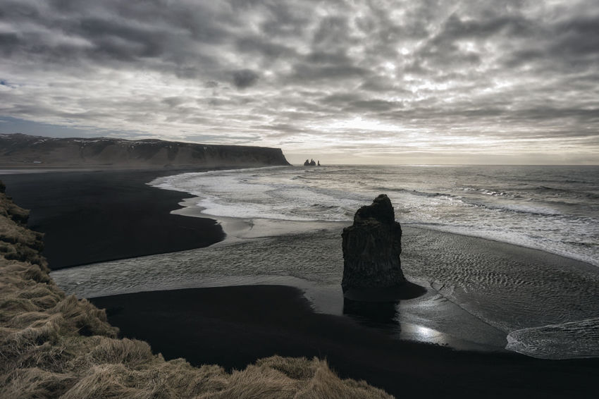 Landscape in Iceland Beauty In Nature Calm Cloud Cloud - Sky Cloudy Coastline Horizon Over Water Idyllic Nature No People Non-urban Scene Outdoors Overcast Remote Rock Rock - Object Rock Formation Scenics Sea Shore Sky Tranquil Scene Tranquility Water Weather