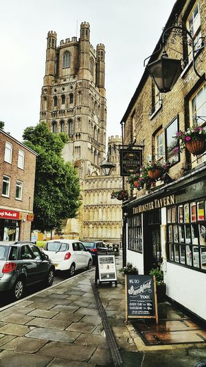The local pub in front of Ely Cathedral. Cityscapes Travel England