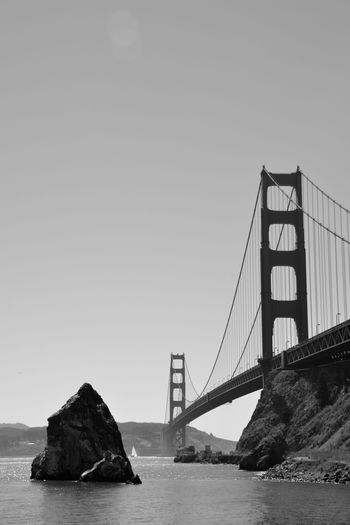 Black & White Bridge Clear Sky Golden Gate Bridge Roadtrip San Francisco Urban USA First Eyeem Photo