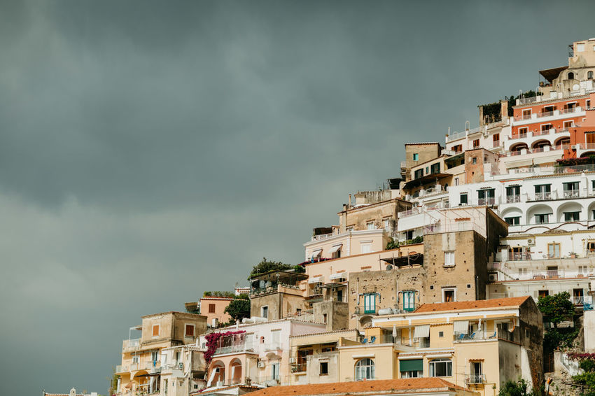 Positano Italy Amalfi Coast Old Buildings Costa Amalfitana