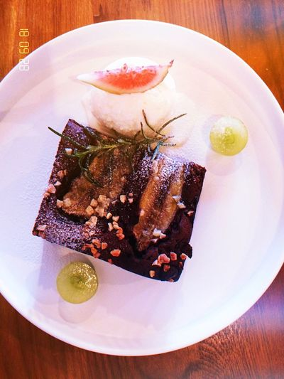 High angle view of fish served in plate