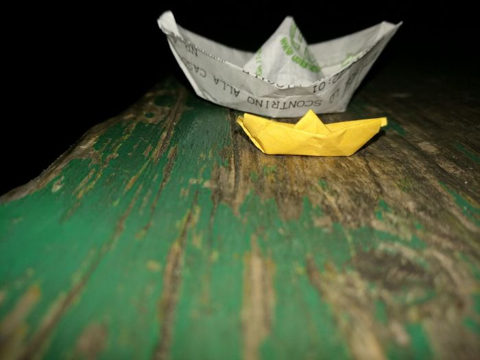 Original Paper Boat Relax Drink And Fun Near Friend Travel In The Mind World