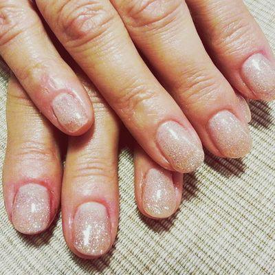Glitter on my mum :-) Nails Naglar