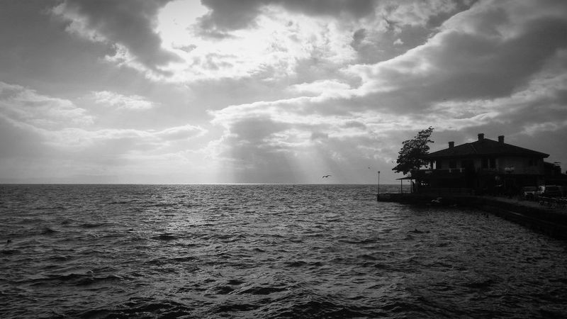 Today a friend took me to the Ohridlake, in Macedonia Blackandwhite Monochrome Ohrid Lake and it is amazing!