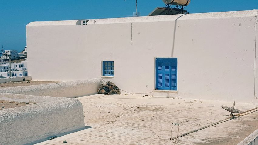 Walking Around Walk Ios Island Greece Traditional Houses Colors Outdoors Blue White