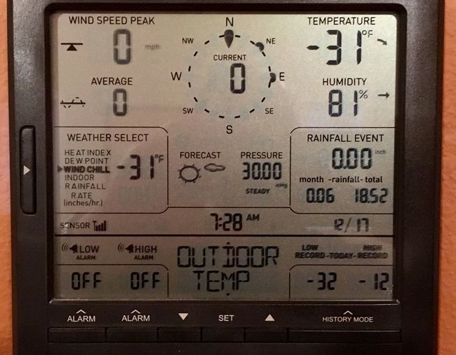 Baby it's cold outside. -31F outside. Who knows what the wind chill is...my wind monitor is buried under snow. 😉 My weather station this morning. Baby Its Cold Outside BURR Check This Out Check This Out! Checking In Close-up Cold Cold Temperature Control Day Frigid Gauge Lcd Monitor My Weather Diary No People Number Numbers Statistics  Technology Text This Morning Today Weather Weather Station