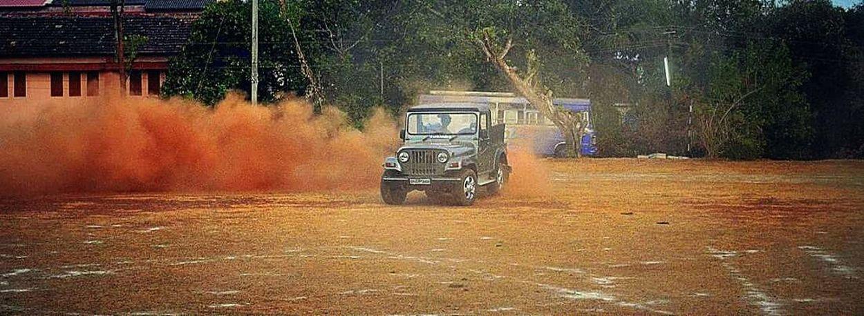 Goa India Drifting Thar Mahindrathar Dusty Power SUV 4x4wd Adrenalinejunkie