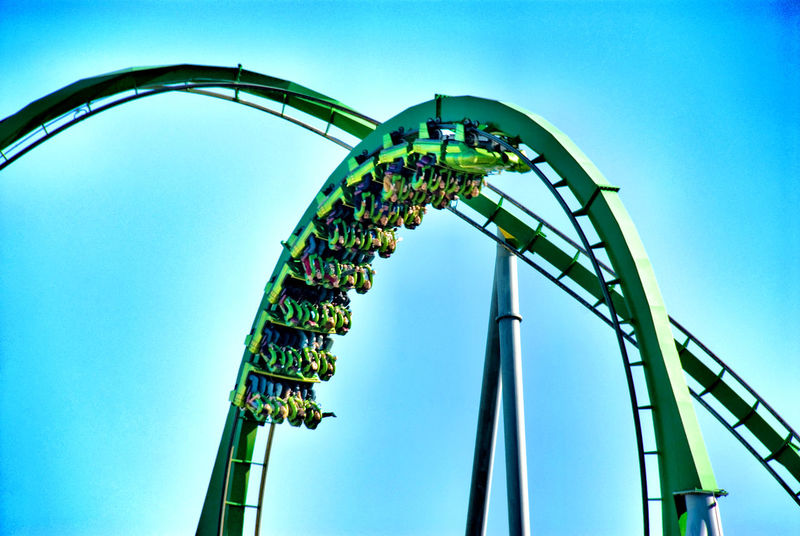 Breathtaking Driving Fun Headfirst Human Nature Life In Motion Looping Roller Coaster Funpark Vehicle Upside Down Ups And Downs